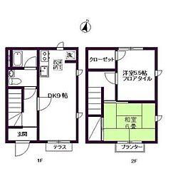 [テラスハウス] 東京都世田谷区駒沢2丁目 の賃貸【/】の間取り