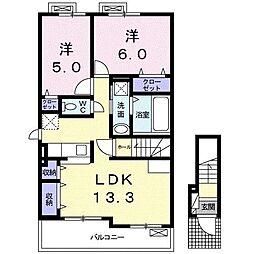 福富町アパート[0201号室]の間取り