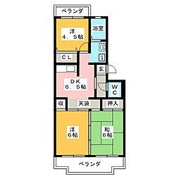 ドムスグラーチア[3階]の間取り