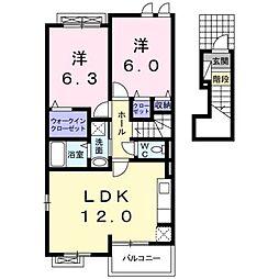 ハッピーシティ基里IV[2階]の間取り