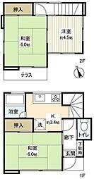 [一戸建] 千葉県船橋市七林町 の賃貸【/】の間取り
