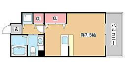 兵庫県三木市緑が丘町西5丁目の賃貸アパートの間取り