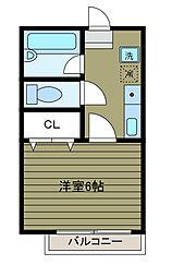 ハイユニメントシブヤ3[1階]の間取り