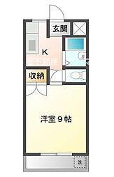 広島県福山市南松永町2丁目の賃貸マンションの間取り