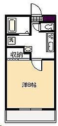 平尾コーポ[104号室]の間取り