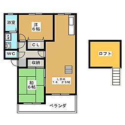 フラワーアネックス[2階]の間取り