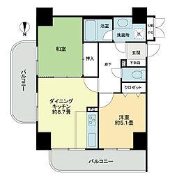 ライオンズマンション函館五稜郭公園[14階]の間取り