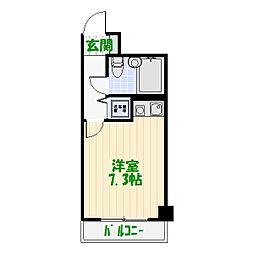 東京都葛飾区柴又1丁目の賃貸マンションの間取り