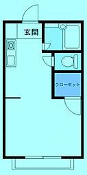 陽甲ハウス[2階]の間取り