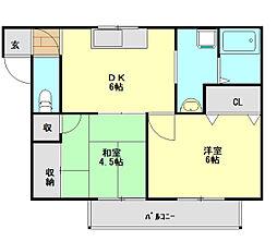 リューカシェ[2階]の間取り