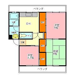 第一岡崎マンション[2階]の間取り