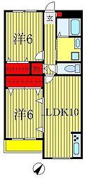 新渡辺マンション[3階]の間取り