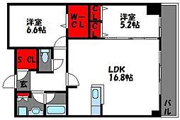 プライムメゾンセントラルパーク[11階]の間取り