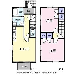 [テラスハウス] 東京都八王子市下柚木2丁目 の賃貸【/】の間取り