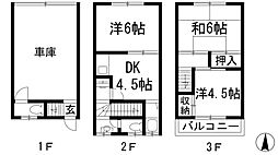 [テラスハウス] 兵庫県川西市鼓が滝1丁目 の賃貸【兵庫県 / 川西市】の間取り