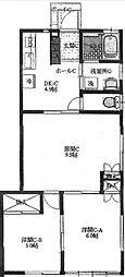 [一戸建] 神奈川県横浜市中区本郷町3丁目 の賃貸【/】の間取り