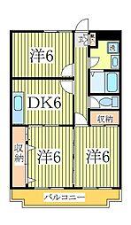 ビュー緑台[3階]の間取り