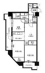 朝日プラザ赤坂[3階]の間取り