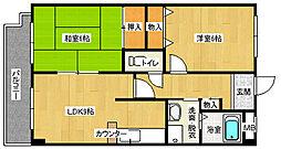 ファンシェイプ2号館3階Fの間取り画像