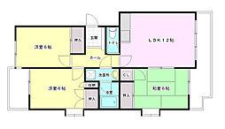 高須シティハウス[3階]の間取り