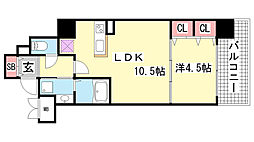 アドバンス三宮ウィングロード[8階]の間取り