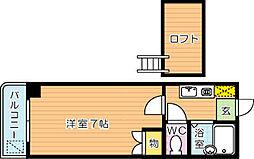トリビュートNAOTO[3階]の間取り