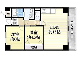 クレストコート新大阪[8階]の間取り