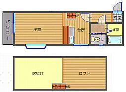 長崎県長崎市大橋町の賃貸アパートの間取り