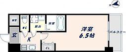 グランエクラ田島 7階1Kの間取り