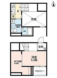 愛知県名古屋市南区大同町4丁目の賃貸アパートの間取り