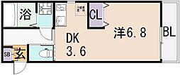 (仮称)東大阪市宝持3丁目[3階]の間取り