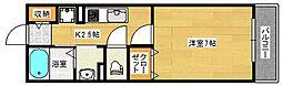 エスポワ−ル[1階]の間取り