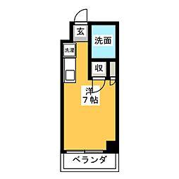 シェスタ桜山[6階]の間取り