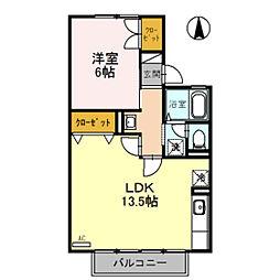 セジュール経堂 A棟[2階]の間取り