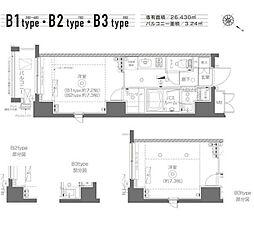 東京メトロ有楽町線 月島駅 徒歩6分の賃貸マンション 3階1Kの間取り