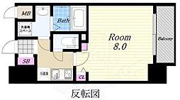 Osaka Metro中央線 弁天町駅 徒歩10分の賃貸マンション 2階1Kの間取り