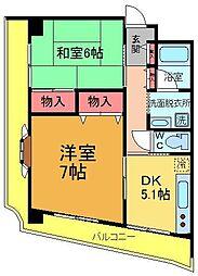ロイヤルアヤセ[3階]の間取り