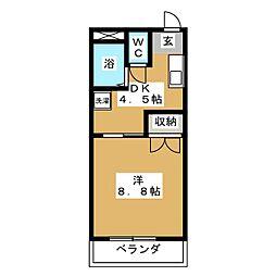 シークハウスコーポ[3階]の間取り