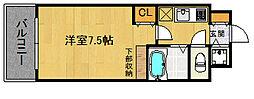 福岡県福岡市早良区城西1丁目の賃貸マンションの間取り