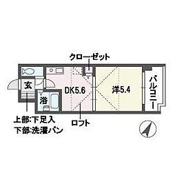 グランフォート平和[5階]の間取り