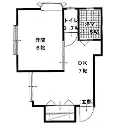 神奈川県川崎市多摩区西生田2丁目の賃貸マンションの間取り