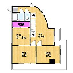 マルマンプラザ武里[3階]の間取り