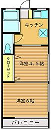 第三井上荘[201号室]の間取り