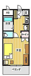 ノーブルハウス吉田[6階]の間取り