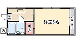 南花島ハイム26[201号室]の間取り