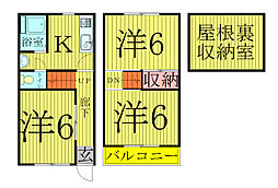 [テラスハウス] 千葉県我孫子市台田3丁目 の賃貸【/】の間取り
