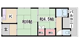神戸市長田区長者町住宅[1階]の間取り