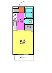 ドミール朝志ヶ丘[1階]の間取り