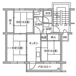 UR豊四季台[79-404号室]の間取り