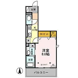 プレミスト III[2階]の間取り